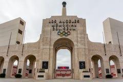 Los Angeles Memorial Coliseum royalty free stock photo