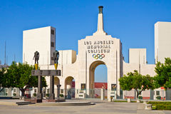 Los Angeles Memorial Coliseum On A Clear Day stock images