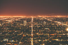 Los Angeles Metro at Night. Los Angeles, California, United States Stock Photography