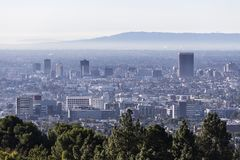 Los Angeles Mid City Morning Skyline View stock photo