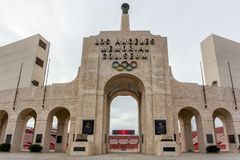 Los Angeles minnesmärkeColiseum royaltyfri foto