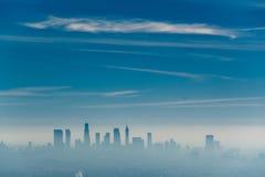 Los Angeles misty skyline, California, USA.  royalty free stock image