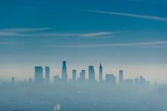 Los Angeles misty skyline, California, USA.  stock image