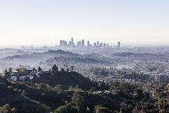 Los Angeles morgonmist Royaltyfria Bilder