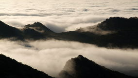 Los Angeles Morning Fog Time Lapse. Rolling fog time lapse on the edge of Los Angeles, California stock footage