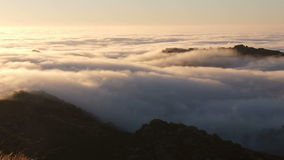 Los Angeles Morning Fog Time Lapse with Zoom stock video footage