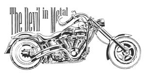 Los angeles motorbike illustration tee shirt graphic design Royalty Free Stock Photo