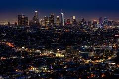 Los Angeles na noite fotografia de stock
