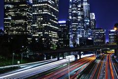 Los Angeles nachts Stockfotografie