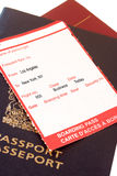 Los Angeles, New York boarding pass Royalty Free Stock Images