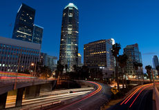 Los Angeles at night Royalty Free Stock Image