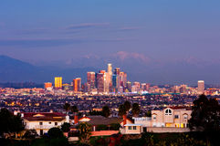 Los Angeles at night Stock Photography