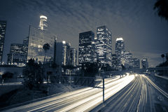 Los Angeles at night Royalty Free Stock Photography