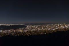 Los Angeles Night Aerial Royalty Free Stock Photos
