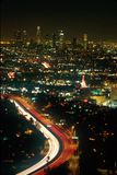 Los Angeles Night Sky Royalty Free Stock Photography