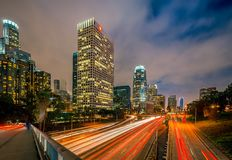 Los Angeles at night Stock Photos
