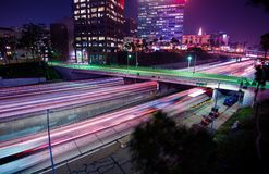 Los Angeles Night Traffic Stock Photos