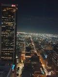 Los Angeles Night View royalty free stock photos