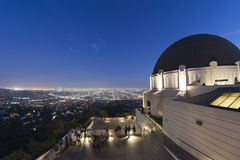 Los angeles night view from observatory Stock Photo