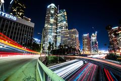 Los Angeles Nights. Downtown Los Angeles at night Stock Photography