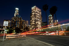 Los angeles nights Stock Image
