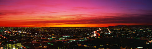 Los Angeles no por do sol Imagens de Stock Royalty Free