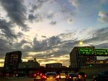 Los Angeles nocy widok zdjęcia stock