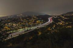 Los Angeles nocy widok Glendale autostrada Obraz Royalty Free