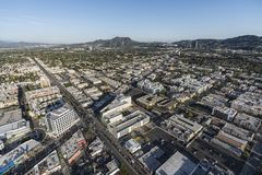 Los Angeles North Hollywod Aerial Royalty Free Stock Images