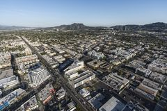 Los Angeles North Hollywood Aerial Stock Photography