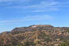Hollywood Sign and Santa Monica Mountains Royalty Free Stock Photos