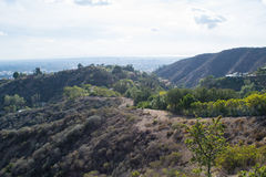 Los Angeles nuvolosa piovosa malgrado la siccità Immagini Stock Libere da Diritti