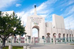 Los Angeles Olympic Coliseum. LOS ANGELES - OCTOBER 17: Memorial Coliseum is site of many landmark events including two summer Olympics the latest in 1984. The Stock Image