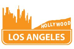 Los Angeles outline Royalty Free Stock Photography