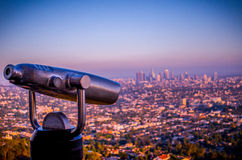 Los Angeles Overlook. Overlook of Los Angeles from the Griffith Observatory stock photo