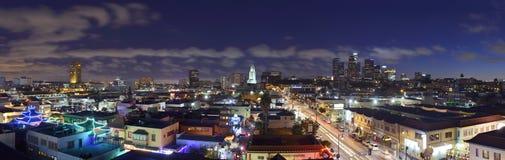 Los Angeles på skymning Royaltyfria Bilder