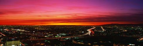 Los Angeles på solnedgången Royaltyfria Bilder