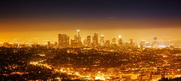 Los Angeles panorama Arkivbild