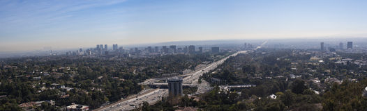 Los Angeles panorama Royaltyfri Bild