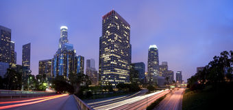 Los Angeles Panoramic Royalty Free Stock Photography