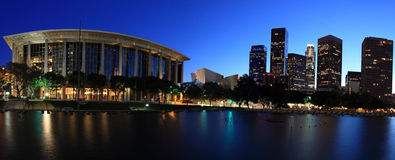 Los Angeles panoramic at twilight Stock Photography