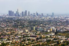 Los Angeles panoramic view Stock Image