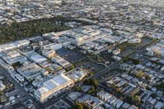 Los Angeles Paramount Pictures Studio Aerial View. Los Angeles, California, USA - February 20, 2018:  Aerial view of Paramount Pictures Studio on Melrose Av in Stock Images