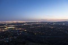 Los Angeles, Pasadena and Glendale California. Dusk sky over Los ANgeles, Pasadena and Glendale in Southern California Royalty Free Stock Photography