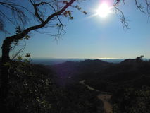 Los Angeles. This photo was shot from The Griffith Observatory in Los Angeles, California.  Looking out to the Pacific Ocean Stock Photography