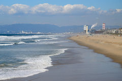 Los Angeles plaży strony boczny widok Zdjęcie Royalty Free