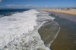 Los Angeles plaży strony boczny widok Zdjęcia Stock