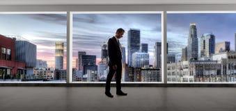 Los Angeles pośrednik handlu nieruchomościami lub biznesmen obrazy stock