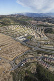 Los Angeles Porter Ranch Construction Aerial Lizenzfreies Stockbild