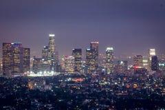 LOS ANGELES przy nocą Zdjęcie Stock